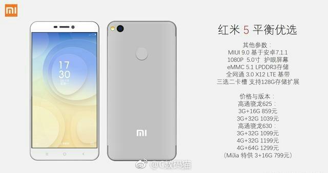 Smartphone Xiaomi Redmi 5