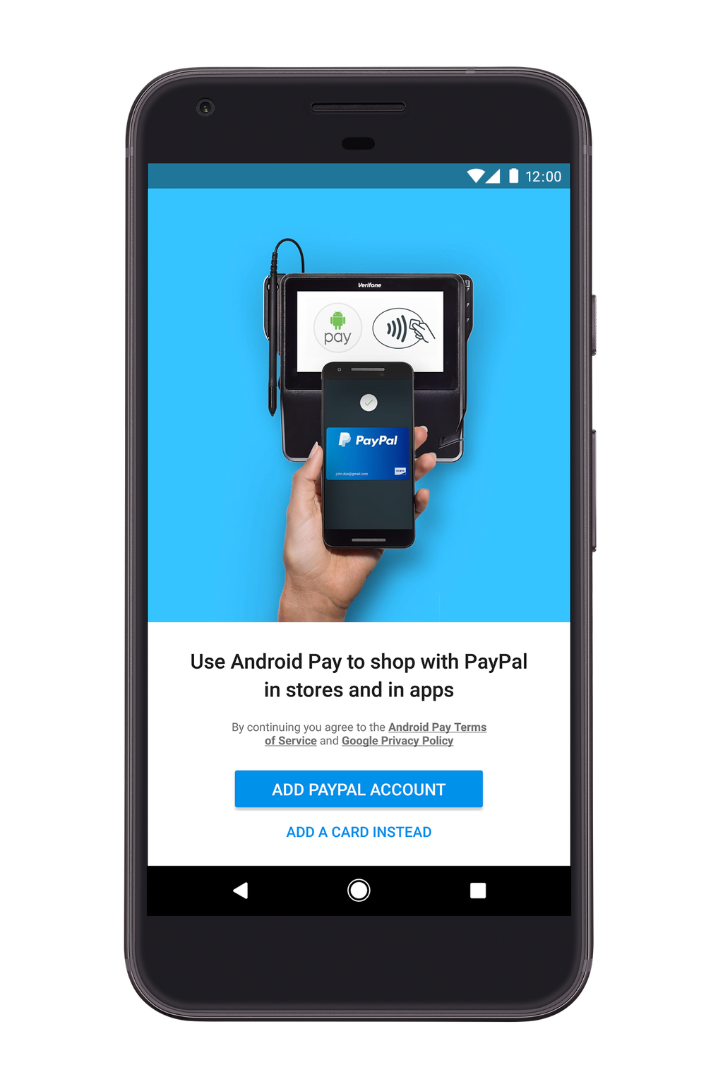 PayPal no Android Pay