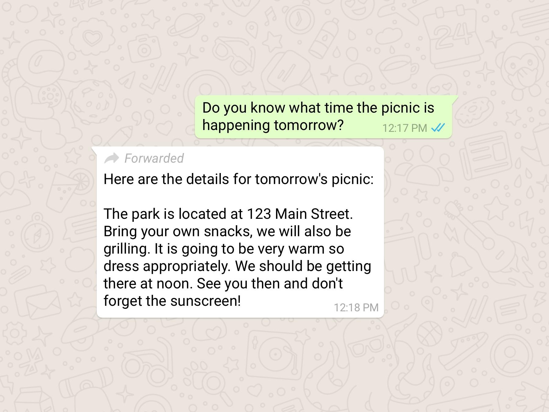 WhatsApp passa a indicar mensagens encaminhadas