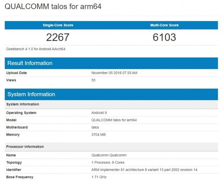 Primeiro smartphone com Snapdragon 675 é flagrado no Geekbench