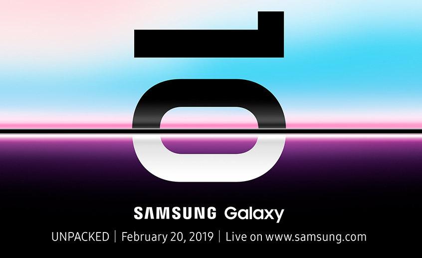 Samsung envia convites para evento do Galaxy S10 em 20 de fevereiro