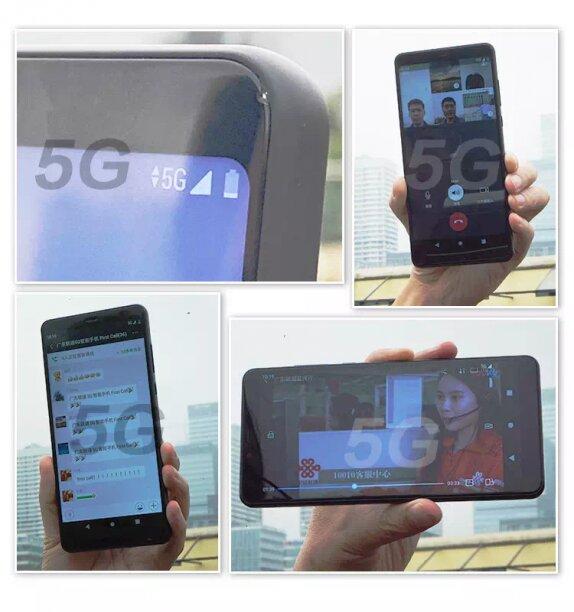 ZTE e China Unicom completam primeira chamada 5G em smartphone protótipo