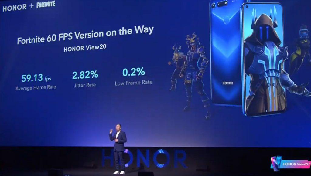 Fortnite lanza versión 60 FPS para el Honor View 20