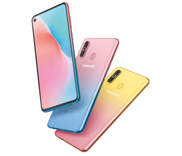Samsung Galaxy A8s ganha novas variantes de cor gradiente rosa