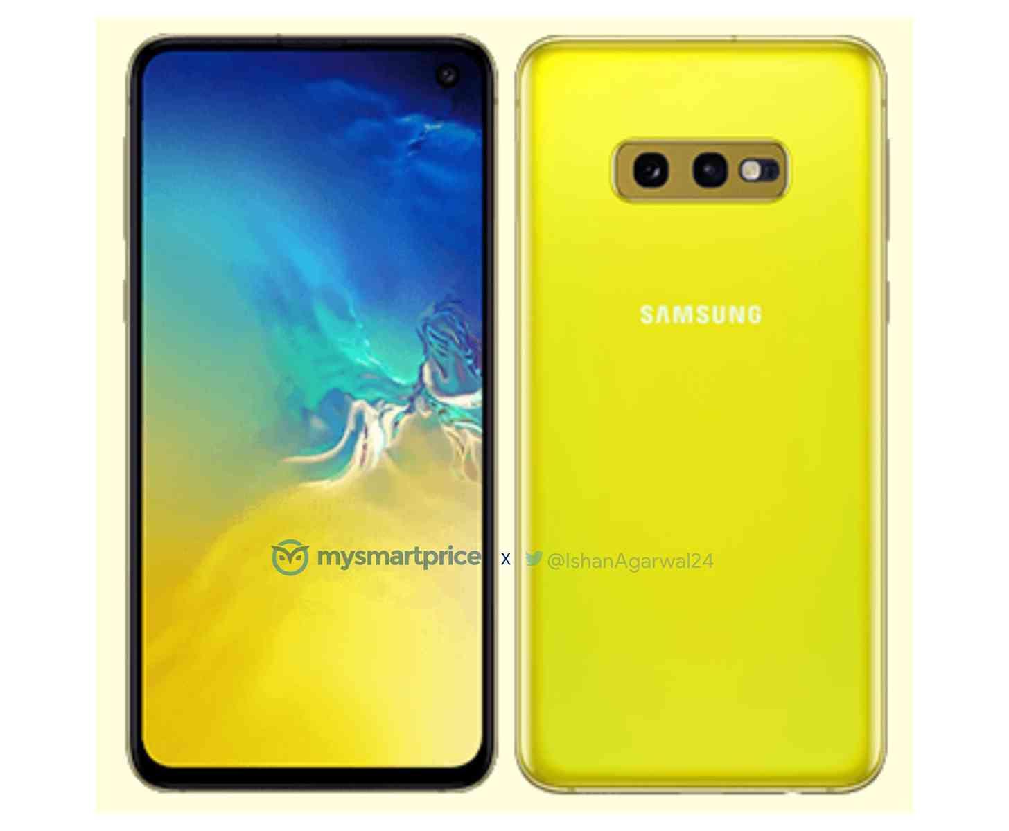 Samsung Galaxy S10e vaza novamente, desta vez na cor Canary Yellow