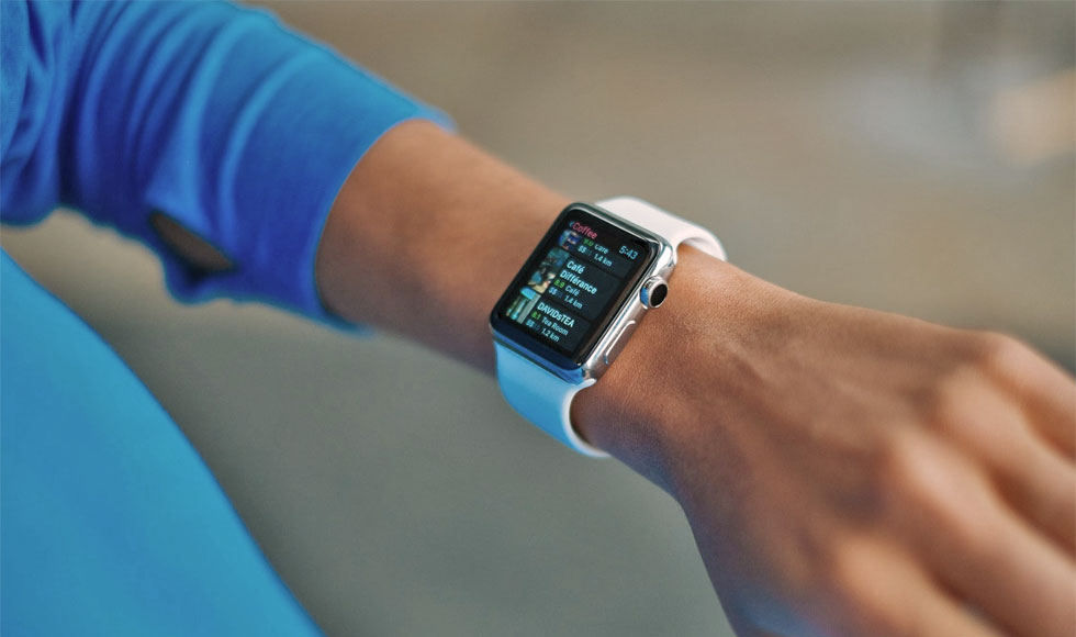 apple watch in arms