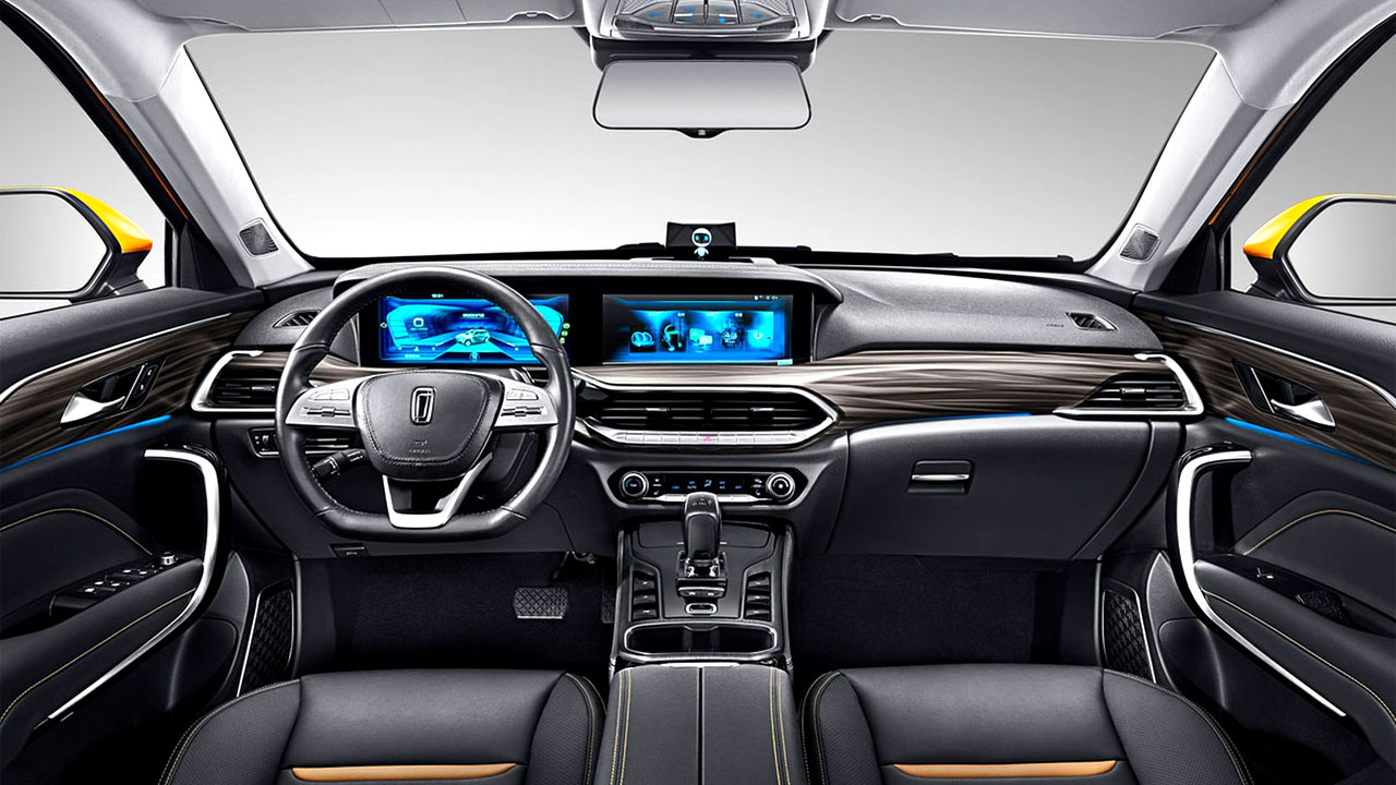 interior do carro da xiaomi