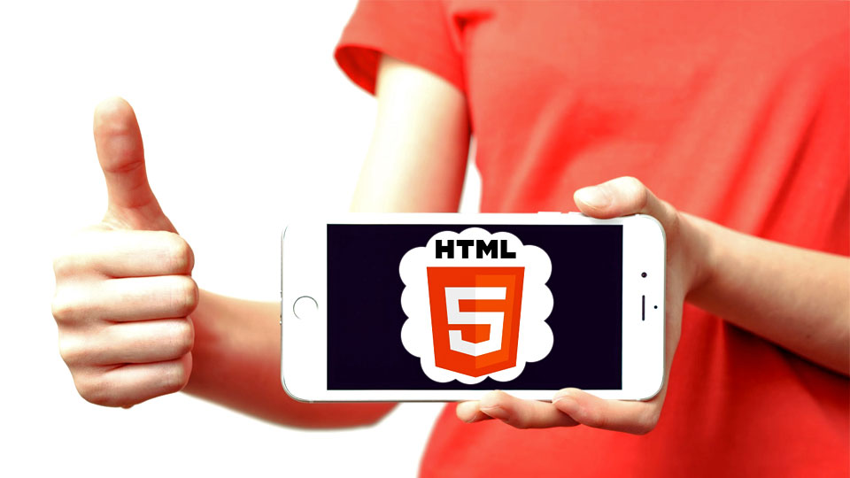 smartphone showing html5
