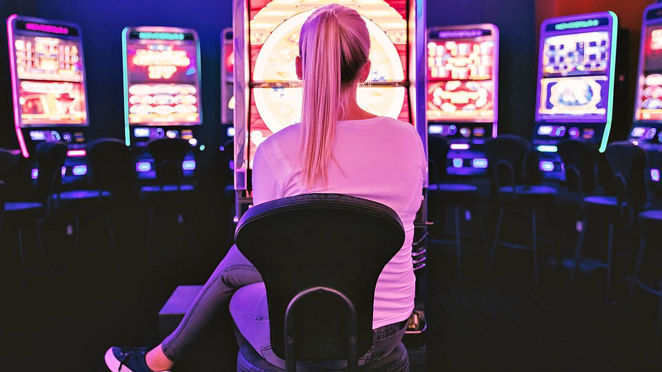 blond woman on casino