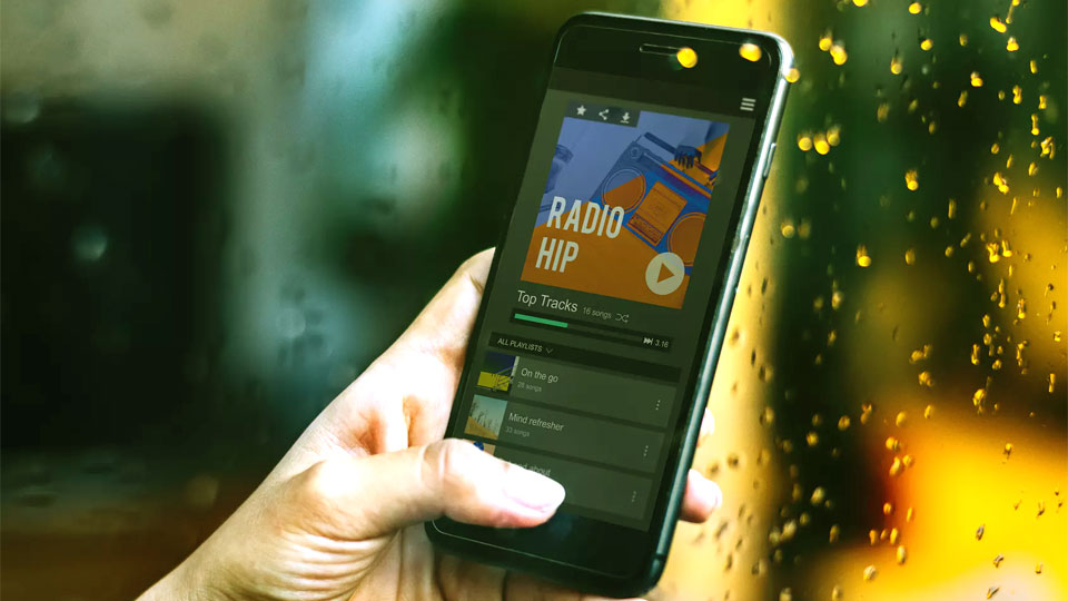 smartphone with radio app