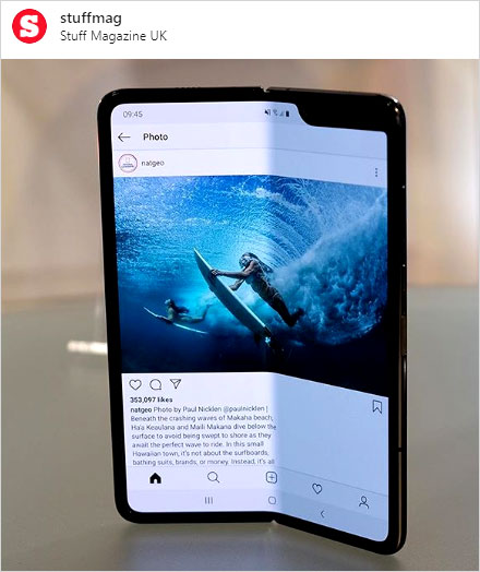 foldable phone on instagram