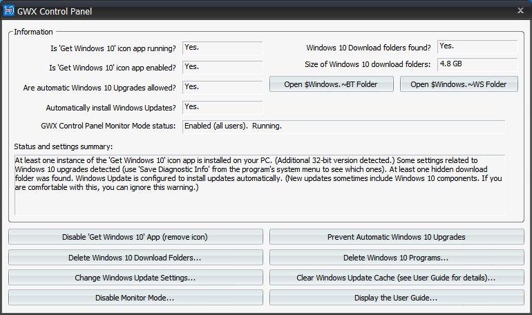 gwx control panel program