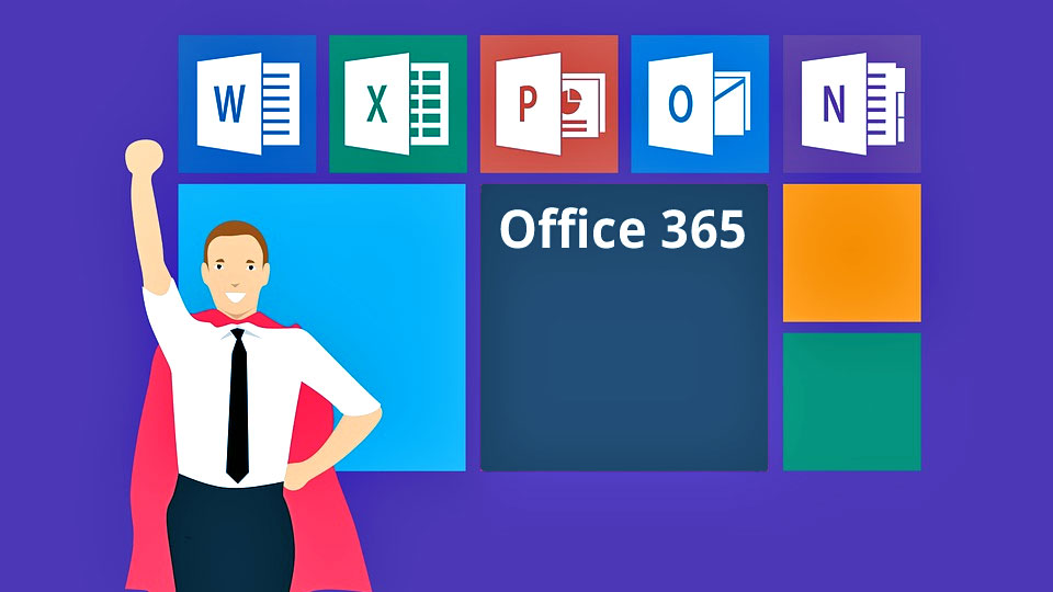 super microsoft office 365 cartoon