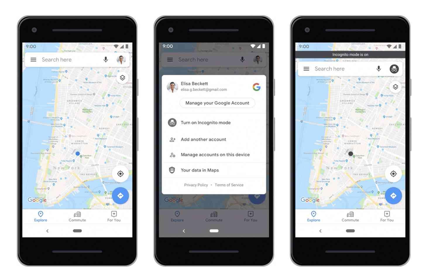 google maps anonimo