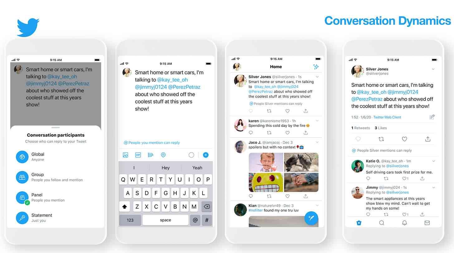 twitter participantes da conversa