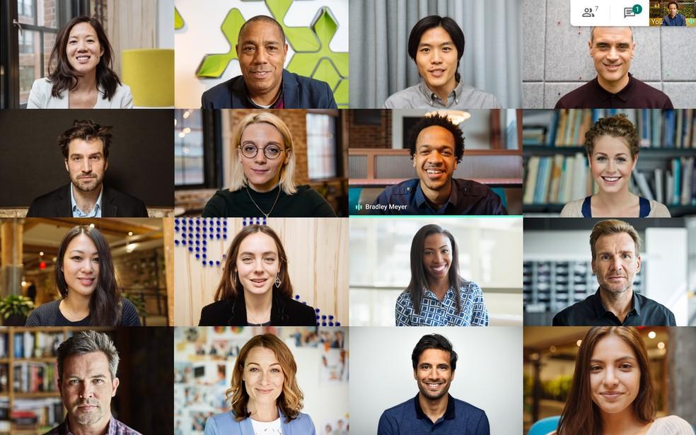 app google meet pessoas em videoconferencia