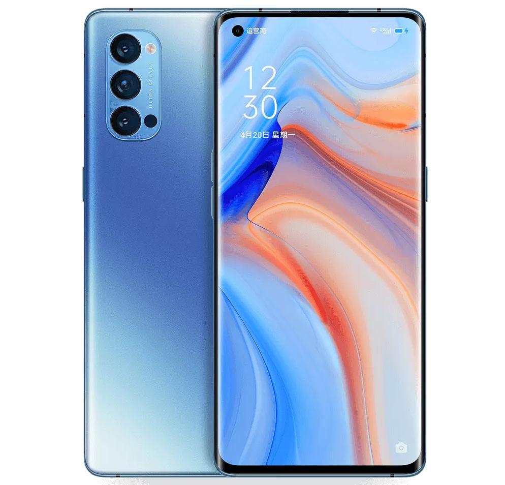 smartphone oppo reno4 pro 5g frontal e traseira