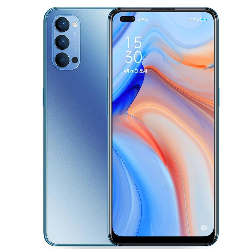 smartphone oppo reno4 5g frontal e traseira