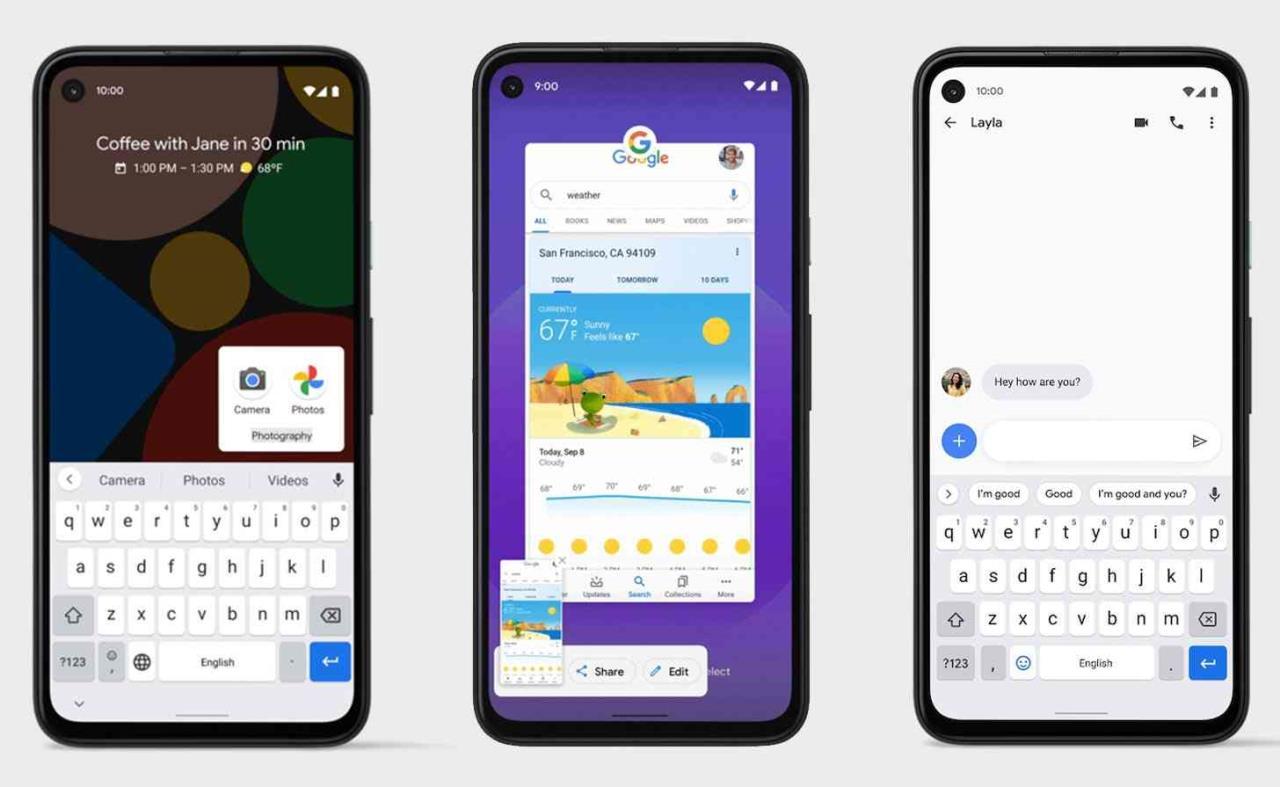 google android 11 pantalla