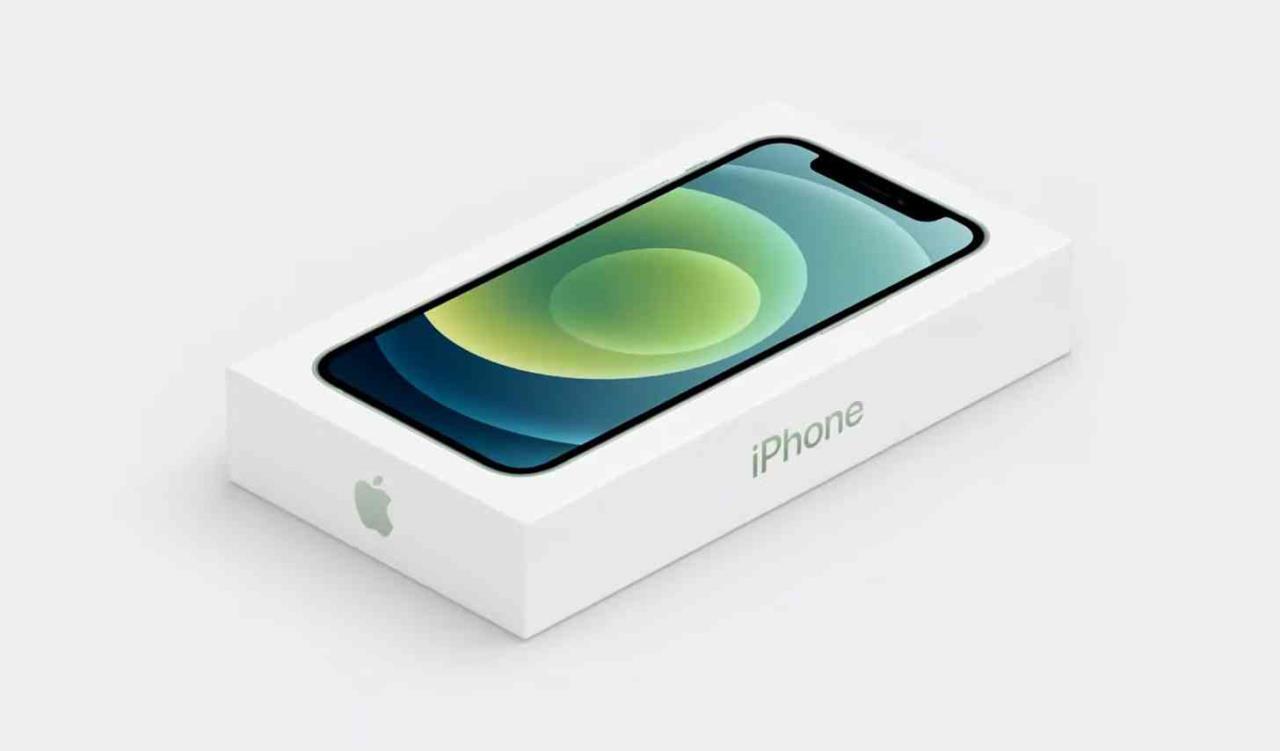 apple iphone 12 caixa menor