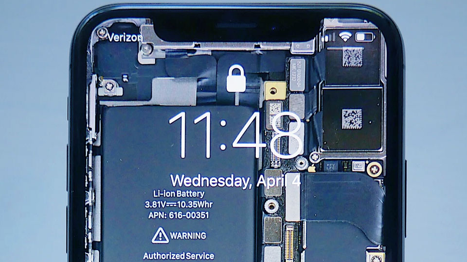 smartphone with its battery exposed