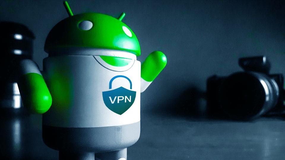 google android mascot with vpn shirt