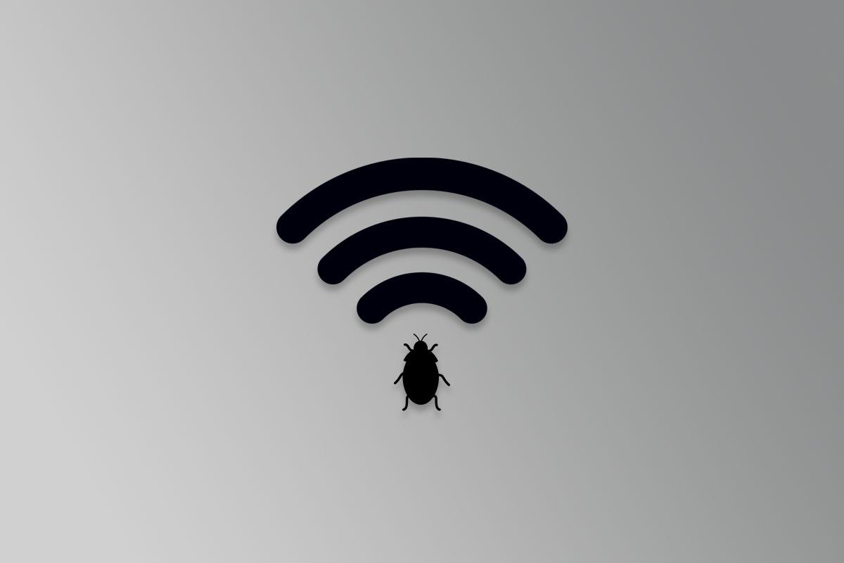 wifi logo with a bug