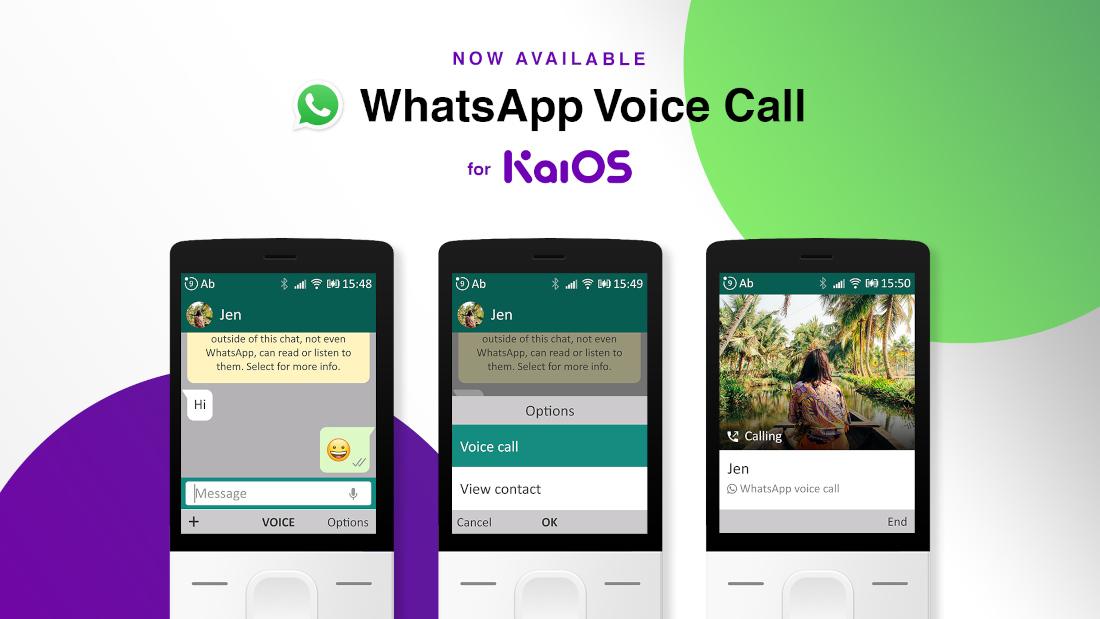 whatsapp chamadas de voz kaios