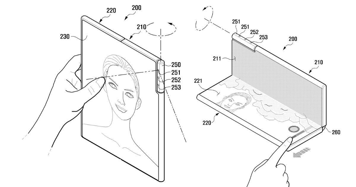 Futuros dobráveis da Samsung podem ter câmeras rotativas