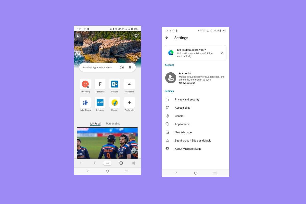 Microsoft Edge 92 para Android